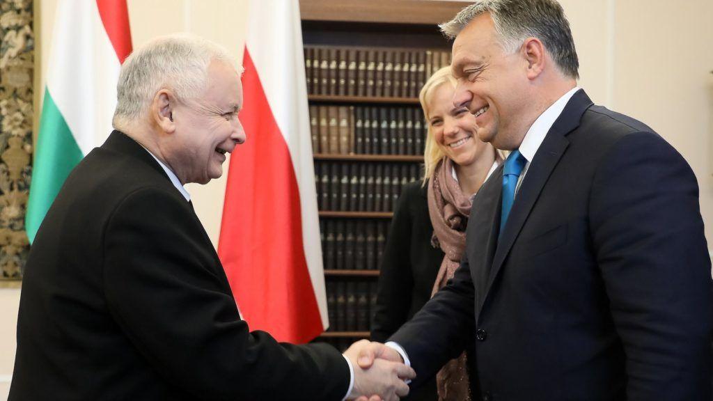 Image result for orbán kaczynski