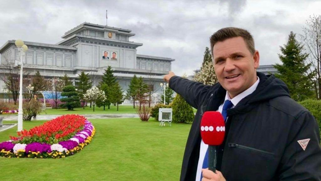 Novák András, az ATV haditudósítója Észak-Koreában