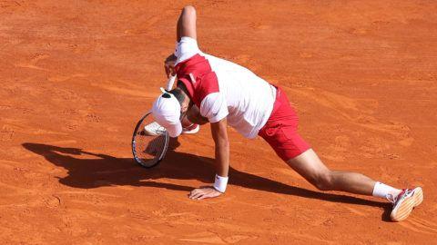 Djokovic megnyerte az első szettet, aztán teljesen elvesztette a fonalat