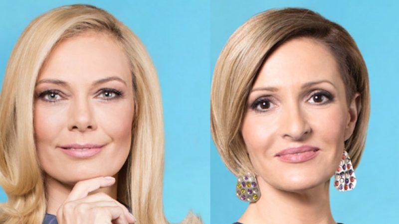 Péterfi Judit és Farkas Krisztina, a HírTV műsorvezetői