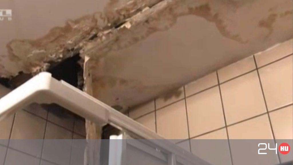 Penész lepi el a a Budai Gyermekkórház falát