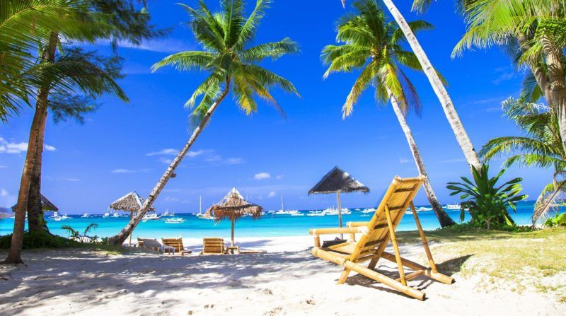 Holidays in Paradise island