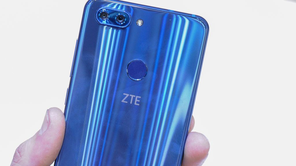 New ZTE Blade V9 at ZTE stand during the Mobile World Congress Day 2 on February 27, 2018 in Barcelona, Spain.  (Photo by Joan Cros/NurPhoto)