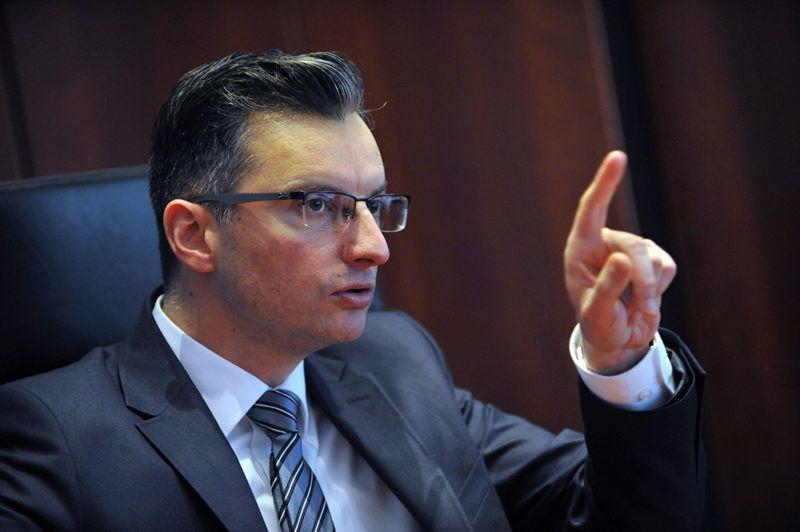 Marjan Sarec, leader of The List of Marjan Sarec speaks during an interview with Reuters in Kamnik, Slovenia, March 6, 2018. REUTERS/Srdjan Zivulovic