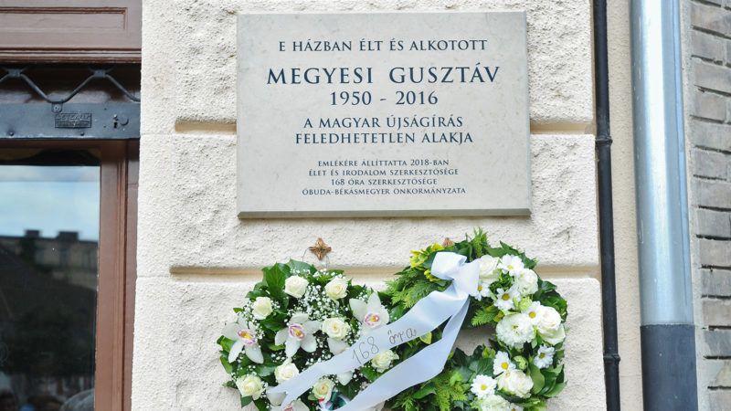 2018. május 8. Megyesi Gusztáv emléktábla avató. Fotó: Vajda József