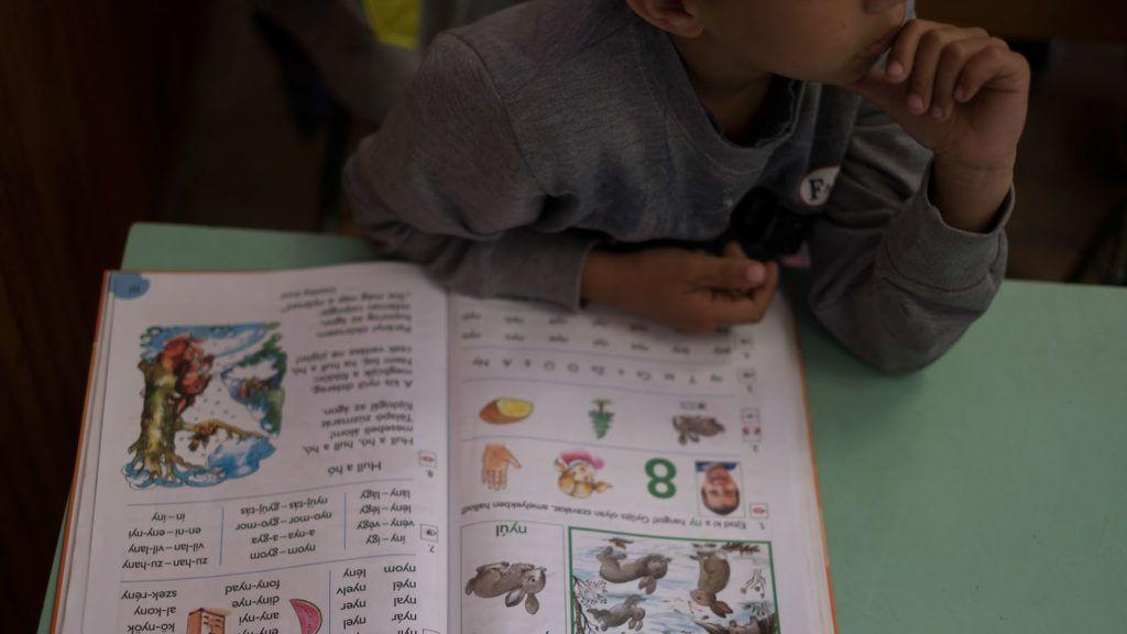 Transzlingvális tanítási kísérlet a tiszavasvári Magiszter iskolában, 2018. május 14-én.