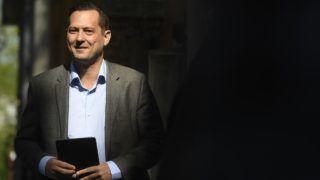Budapest, 2018. április 21. Molnár Zsolt érkezik az MSZP választmányi ülésére a Kispesti Munkásotthon Mûvelõdési Házba (KMO) 2018. április 21-én. MTI Fotó: Kovács Tamás