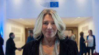 Brüsszel, 2016. november 8.Morvai Krisztina, a Jobbik EP-képviselője az Európai Parlament (EP) brüsszeli épületében 2016. november 8-án.MTI Fotó: Kallos Bea