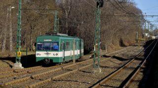 Budapest, 2016. január 13. MXa típusú motorkocsi érkezik Csömör felõl Cinkota elágazó állomásra 2016. január 13-án.  MTI Fotó: Máthé Zoltán