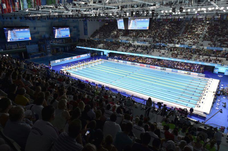 Budapest, 2017. július 24. Úszóverseny a 17. vizes világbajnokságon a Duna Arénában 2017. július 24-én. MTI Fotó: Máthé Zoltán