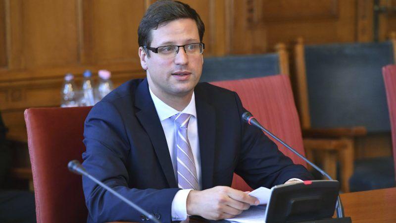 Budapest, 2018. május 14. Gulyás Gergely, a Miniszterelnökséget vezetõ miniszterjelölt kinevezés elõtti meghallgatásán az Országgyûlés igazságügyi bizottságának ülésén az Országházban 2018. május 14-én. MTI Fotó: Máthé Zoltán