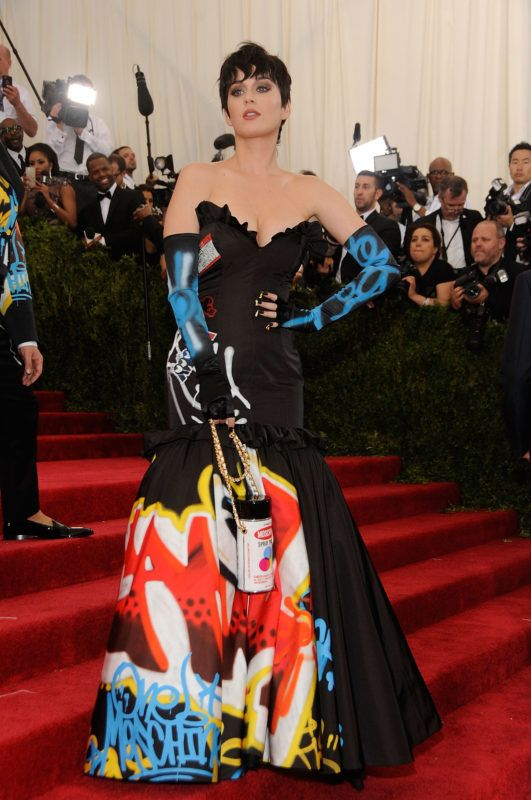 """NEW YORK, NY - MAY 04:  Katy Perry arrives at """"China: Through The Looking Glass"""" Costume Institute Benefit Gala at the Metropolitan Museum of Art on May 4, 2015 in New York City.  (Photo by Rabbani and Solimene Photography/Getty Images)"""
