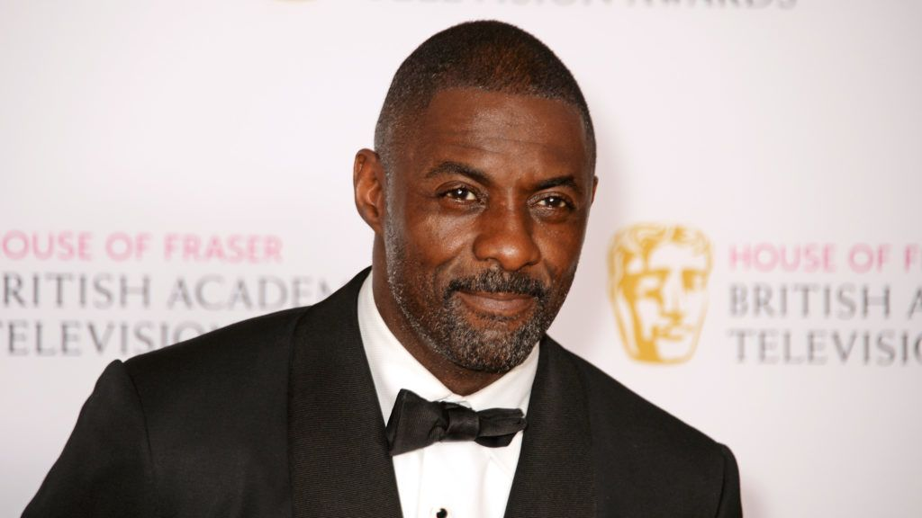 LONDON, ENGLAND - MAY 08:  Presenter Idris Elba poses in the winners room at the House Of Fraser British Academy Television Awards 2016 at the Royal Festival Hall on May 8, 2016 in London, England.  (Photo by David M. Benett/Dave Benett/Getty Images)