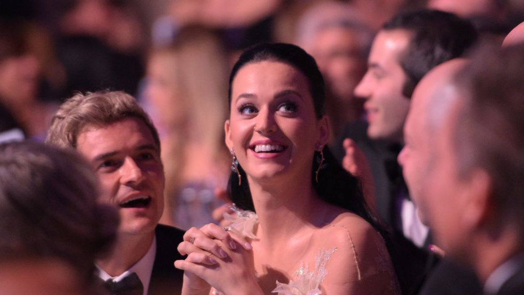 NEW YORK, NY - NOVEMBER 29:  Orlando Bloom and Katy Perry attend the 12th annual UNICEF Snowflake Ball at Cipriani Wall Street on November 29, 2016 in New York City.  (Photo by Jason Kempin/Getty Images for UNICEF)