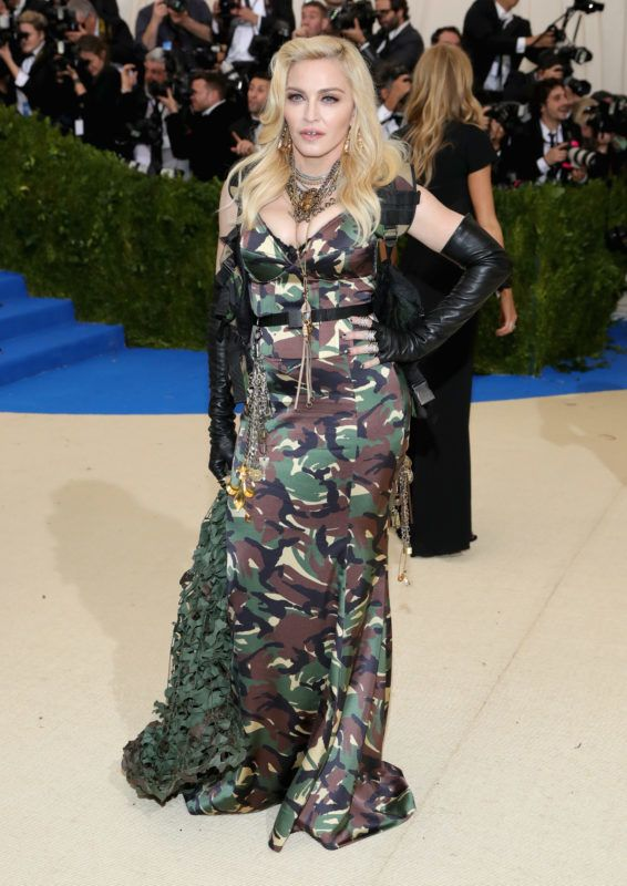 """NEW YORK, NY - MAY 01:  Madonna attends the """"Rei Kawakubo/Comme des Garcons: Art Of The In-Between"""" Costume Institute Gala at Metropolitan Museum of Art on May 1, 2017 in New York City.  (Photo by Neilson Barnard/Getty Images)"""