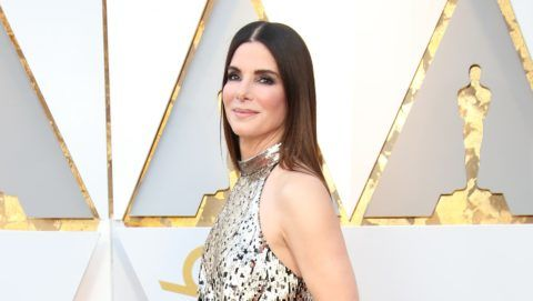 HOLLYWOOD, CA - MARCH 04: Actor Sandra Bullock attends the 90th Annual Academy Awards at Hollywood & Highland Center on March 4, 2018 in Hollywood, California. (Photo by Dan MacMedan/WireImage)