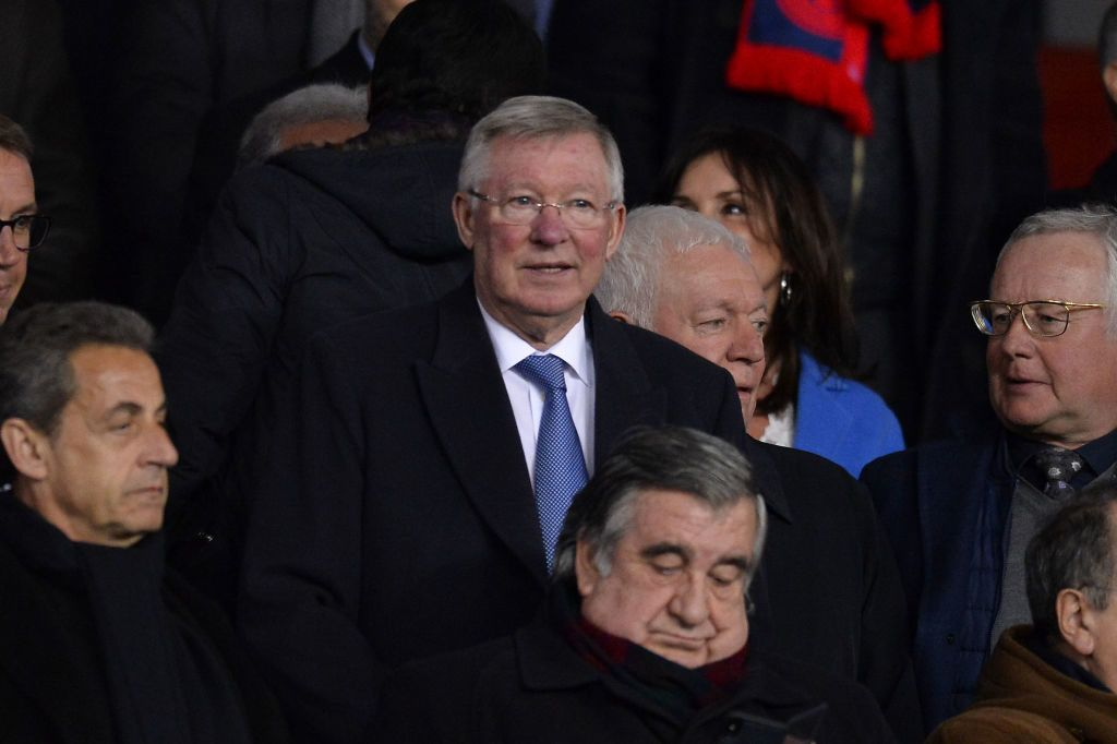 PARIS, FRANCE - MARCH 06:  Sir Alex Ferguson attends the UEFA Champions League Round of 16 Second Leg match between Paris Saint-Germain and Real Madrid at Parc des Princes on March 6, 2018 in Paris, France.  (Photo by Aurelien Meunier/Getty Images)