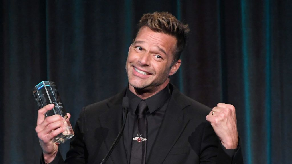 NEW YORK, NY - APRIL 19:  Ricky Martin speaks onstage at The Center Dinner 2018 at Cipriani Wall Street on April 19, 2018 in New York City.  (Photo by Dimitrios Kambouris/Getty Images)