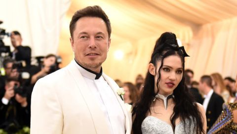 NEW YORK, NY - MAY 07:  Elon Musk and Grimes attend the Heavenly Bodies: Fashion & The Catholic Imagination Costume Institute Gala at The Metropolitan Museum of Art on May 7, 2018 in New York City.  (Photo by Jason Kempin/Getty Images)
