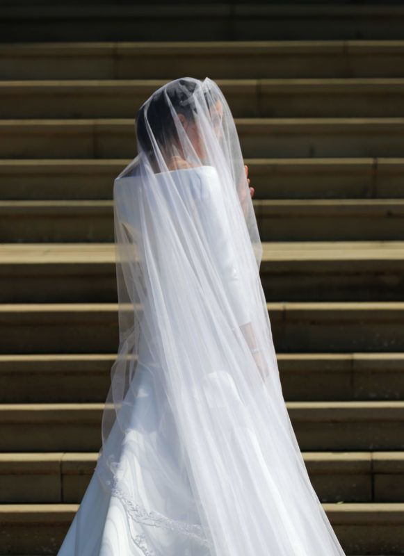 WINDSOR, UNITED KINGDOM - MAY 19:  Meghan Markle and her bridal party arrive at St George's Chapel at Windsor Castle for her wedding to Prince Harry on May 19, 2018 in Windsor, England. (Photo by Jane Barlow - WPA Pool/Getty Images)