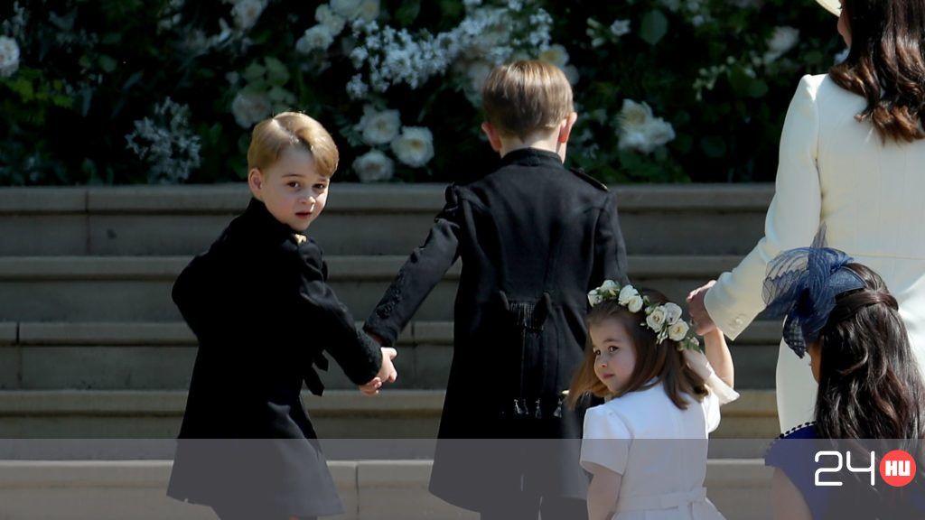 György herceg vigasztalta meg az egyik koszorúslányt