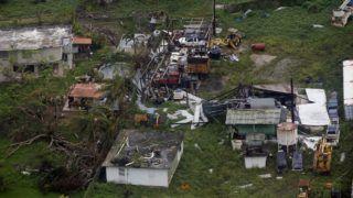 San Juan, 2017. október 19.  Légi felvétel a Maria hurrikán pusztításáról Puerto Rico fõvárosában, San Juanban 2017. szeptember 18-án. (MTI/EPA/Thais Llorca)