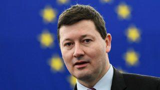 Strasbourg, 2018. március 13.Martin Selmayr, az Európai Bizottság új, német főtitkára az Európai Parlament strasbourgi üléstermében 2018. március 13-án. (MTI/EPA/Patrick Seeger)