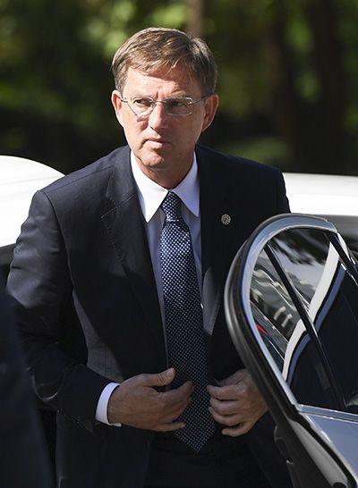Szófia, 2018. május 17.Miro Cerar szlován miniszterelnök az Európai Unió és a nyugat-balkáni országok csúcsértekezletére érkezik a szófiai Nemzeti Kultúrpalotába 2018. május 17-én. (MTI/EPA/Vaszil Donev)