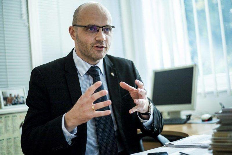 Radetkzy Andárs, a Katolikus Rádió vezérigazgató-helyettese, a HEROE elnöke. Fotó: 24.hu, Karancsi Rudolf