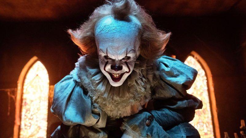 "Stephen King's 'IT' Brooke Palmer BILL SKARSGÅRD as Pennywise in New Line Cinema's horror thriller ""IT,"" a Warner Bros. Pictures release. CR: Brooke Palmer/Warner Bros."