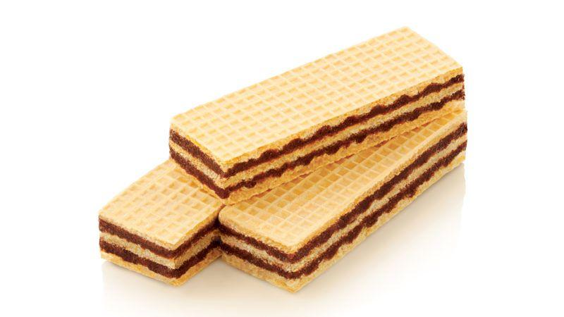 Wafer biscuit in white backgrund