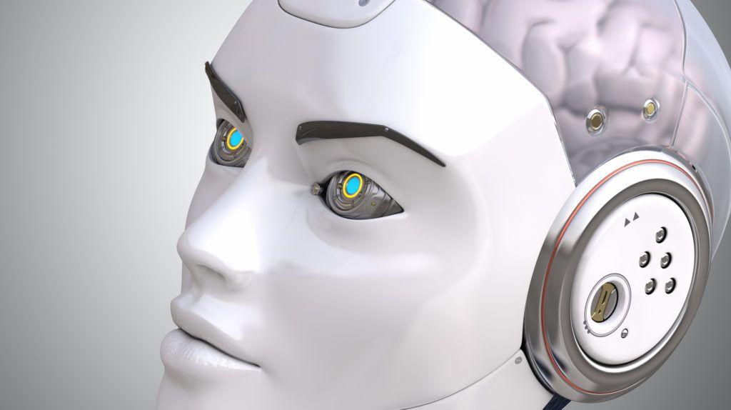 Robot's head close up