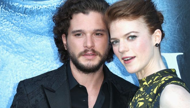 """Frederick M. Brown(FILES) In this file photo actors Kit Harington and Rose Leslie attend the premiere of HBO's """"Game Of Thrones"""" season 7 at Walt Disney Concert Hall on July 12, 2017 in Los Angeles, California. 'Game of Thrones' stars Kit Harington and Rose Leslie were married Saturday June 23, 2018 in Aberdeen, Scotland. / AFP PHOTO / GETTY IMAGES NORTH AMERICA / Frederick M. BROWN"""