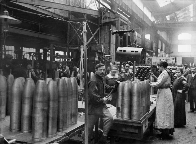 World War One. Women working in an ammunition factory.