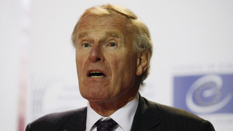 KIEV, UKRAINE - OCTOBER 27: President of the Parliamentary Assembly of the Council of Europe (PACE) Christopher Chope delivers a speech during a press conference in Kiev, Ukraine, on October 27, 2014. Vladimir Shtanko / Anadolu Agency
