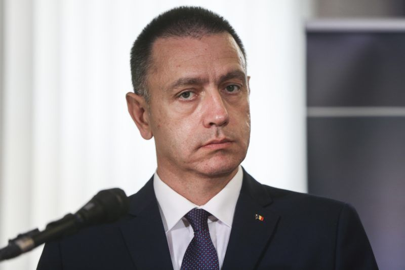 A Ministrer of National Defence of Romania Mihai Viorel Fifor during press conference for the opening of NATO Counter Intelligence Centre of Excellence (CI COE) opens in Krakow, Poland on  19 October, 2017.  (Photo by Beata Zawrzel/NurPhoto)