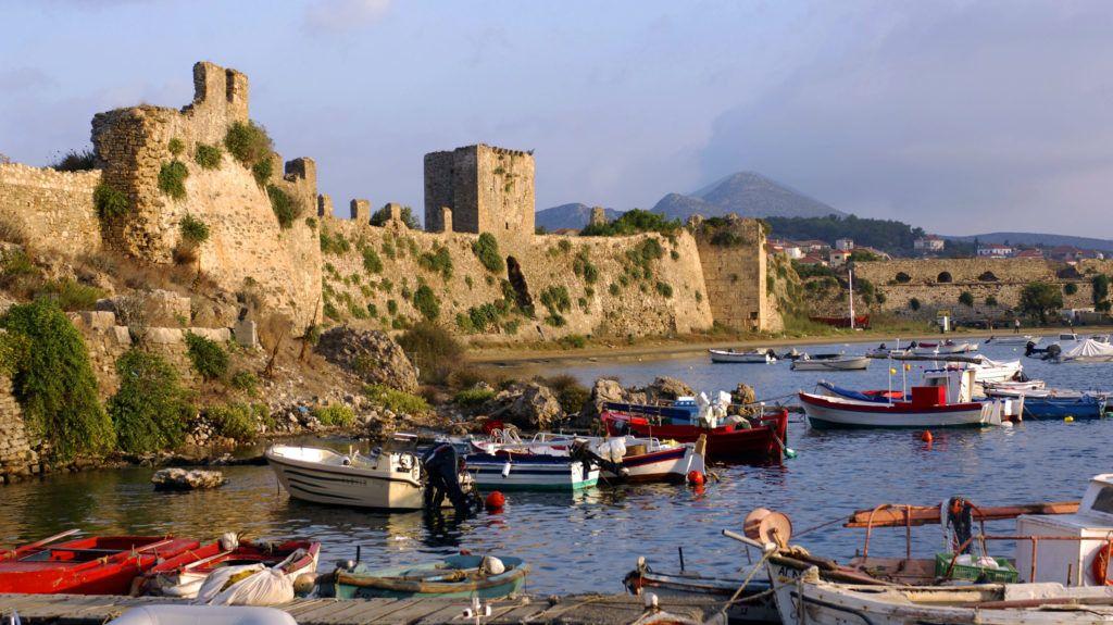 Greece, Peloponnese Region, Methoni, Citadel and harbour