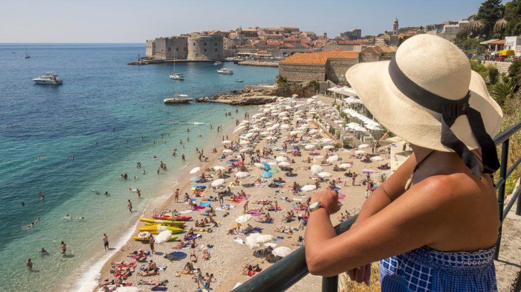 Croatia, Central Dalmatia, Dalmatian coast, Dubrovnik, Banje beach