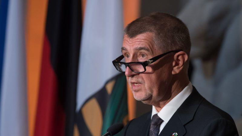 11 June 2018, Germany, Dresden:Andrej Babis, Prime Minister of the Czech Republic, delivers a speech in the Saxon State Chancellery during a reception. The 25th anniversary of the Czech-Saxon Neighbor-Treaty is the reason for Babis' visit to Dresden. Photo: Sebastian Kahnert/dpa