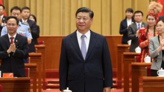 (180626) -- BEIJING, June 26, 2018 (Xinhua) -- Chinese President Xi Jinping, also general secretary of the Communist Party of China (CPC) Central Committee and chairman of the Central Military Commission, attends the opening session of the 18th national congress of the Communist Youth League of China (CYLC) in Beijing, capital of China, June 26, 2018.   (Xinhua/Yao Dawei) (lb)