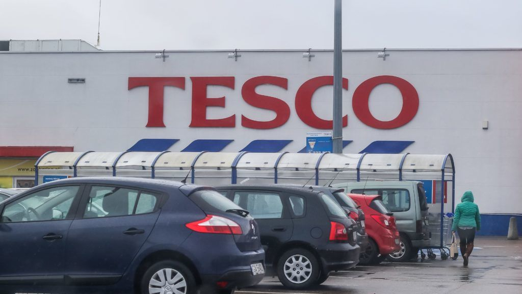 Tesco shopping centre is seen in Gdynia, Poland on 30 January 2018 President Andrzej Duda signed into law the shopping ban in Poland on Sundays. New law backed by labor unions and the Catholic church, force retail businesses to close for two Sundays a month, from March 2018 and for all Sundays but a few exceptions in 2020.  (Photo by Michal Fludra/NurPhoto)