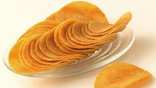 salted tuile crisps