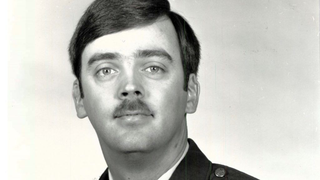 This undated photo released by the U.S. Air Force shows Capt. William Howard Hughes, Jr., who was formally declared a deserter by the Air Force Dec. 9, 1983. He was apprehended June 6, 2018, by Air Force Office of Special Investigations Special Agents from Detachment 303, Travis Air Force Base, Calif., where he's awaiting pre-trial confinement. (U.S. Air Force photo via AP)