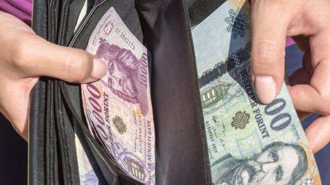 Budapest, 2016. szeptember 10.Tízezer és húszezer forintos bankjegyek egy pénztárcában. Magyarország ma is hivatalos fizetőeszközét, a forintot, 70 évvel ezelőtt, 1946. augusztus elsején vezették be. A pengőt felváltó új pénz nevét I. Károly történelmi aranyforintjáról kapta.MTVA/Bizományosi: Faludi Imre ***************************Kedves Felhasználó!Ez a fotó nem a Duna Médiaszolgáltató Zrt./MTI által készített és kiadott fényképfelvétel, így harmadik személy által támasztott bárminemű – különösen szerzői jogi, szomszédos jogi és személyiségi jogi – igényért a fotó készítője közvetlenül maga áll helyt, az MTVA felelőssége e körben kizárt.