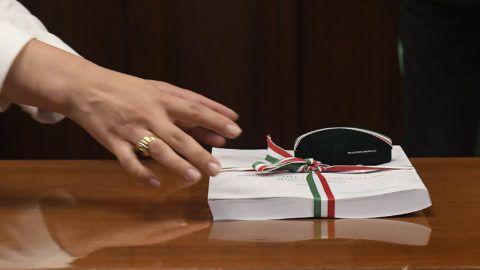 Budapest, 2018. június 13.A 2019-es, a biztonságos növekedés költségvetéséről szóló törvényjavaslat az Országház Gobelin termében 2018. június 13-án.MTI Fotó: Kovács Tamás