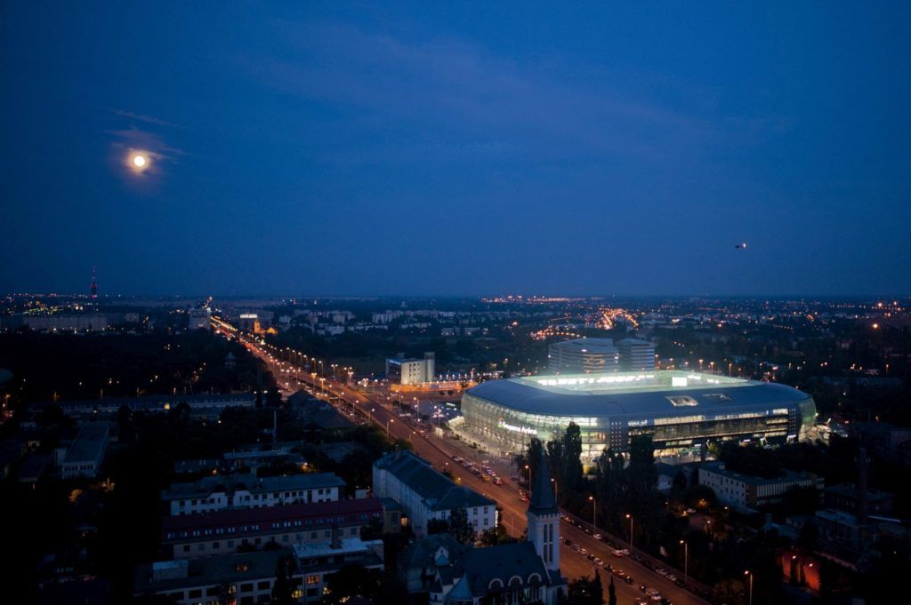 Budapest, 2014. augusztus 10. A Ferencvárosi Torna Club (FTC) új stadionja, a Groupama Aréna a megnyitóján, Budapesten 2014. augusztus 10-én. MTI Fotó: Marjai János