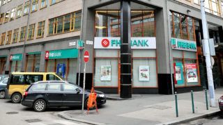 Budapest, 2012. január 11.Az FHB Bank XIII. kerületi Váci úti bankfiókjának épülete.MTI Fotó: Máthé Zoltán