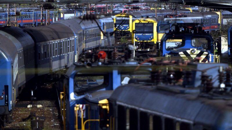 Budapest, 2017. november 2. Vonatok a 140-éves a Nyugati pályaudvaron 2017. november 2-án. MTI Fotó: Máthé Zoltán