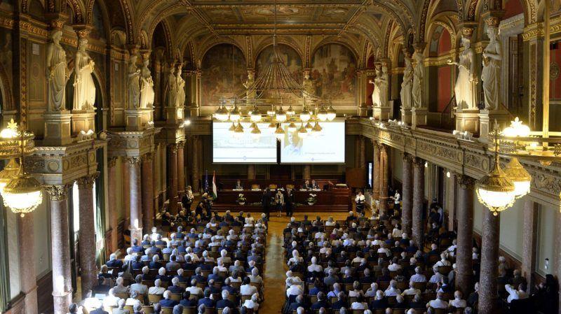 Budapest, 2018. május 7. A Magyar Tudományos Akadémia (MTA) 189. rendes közgyûlése az MTA fõvárosi székházában 2018. május 7-én. MTI Fotó: Soós Lajos