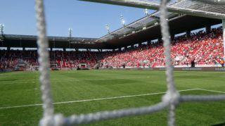 Miskolc, 2018. május 5. Szurkolók az új Diósgyõri Stadionban 2018. május 5-én, az avató napján. A létesítmény 15 ezer nézõ befogadására alkalmas. A nyitómérkõzésen a DVTK a Mezõkövesd ellen játszik. MTI Fotó: Vajda János